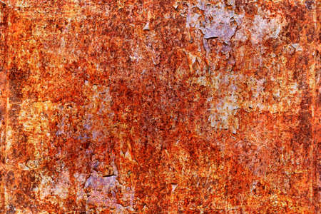 Grunge metal coroded texture. Old rusty metal plate heavily aged corrosion stain creates a grungy frame. Banque d'images
