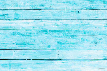 Bright light blue color wood plank texture. Vintage beach wooden background.