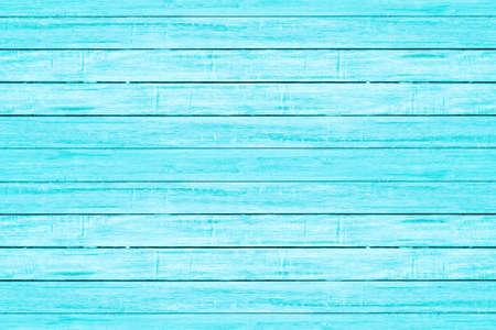 Textura de tablón de madera de color azul claro brillante. Fondo de madera de playa vintage.