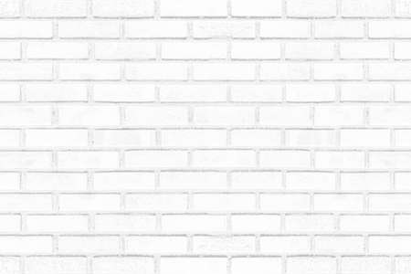 Old grunge white brick wall texture for background