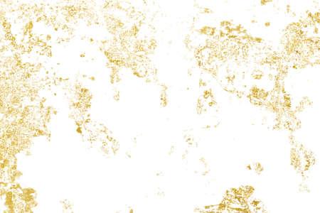 Brush stroke design element. Grunge golden background pattern of cracks, scuffs, chips, stains, ink spots, lines