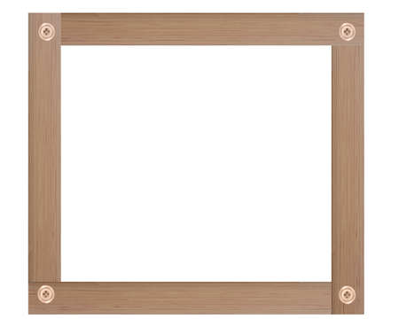 Wooden picture frame isolated on white background. Standard-Bild