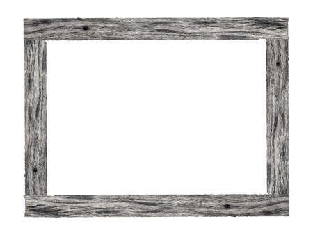 Cadre photo en bois isolé sur fond blanc.