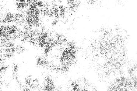 Background of black and white texture. Abstract monochrome pattern of spots, cracks, dots, chips.