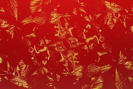 Red, golden texture surface. Color vintage grunge background for text or design.