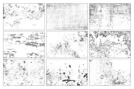 Collection of grunge texture. Abstract in black and white design. Standard-Bild
