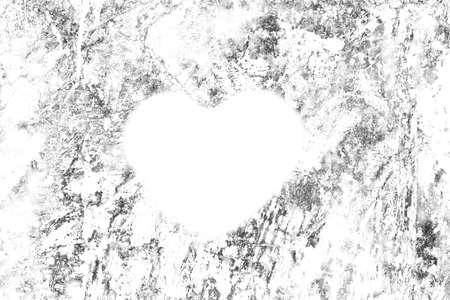 Shape heart in grunge texture background.