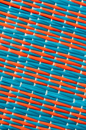 Two color of woven plastic mat,red and blue