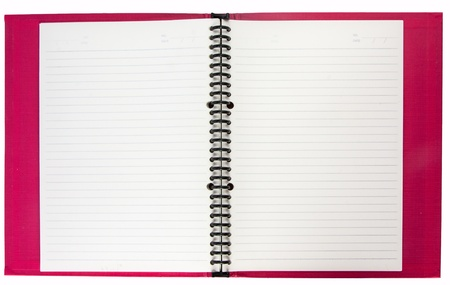 Blank paper of red notebook  tired with black wire Stock Photo - 16403768