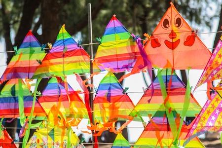 Kite est populaire pour vendre et jouer sur la plage Banque d'images