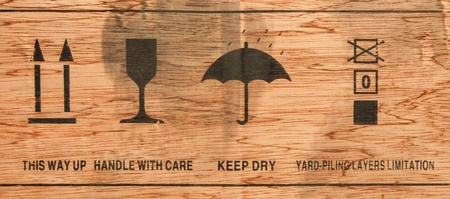 Cardboard  with keep dry icon and others Stock Photo - 17548858