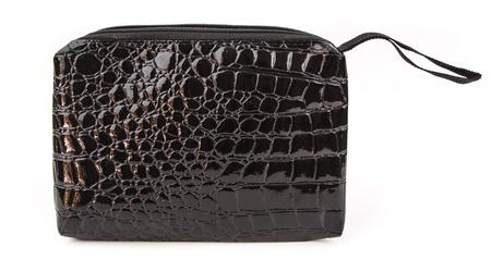 Black leather pencil case on white background Stock Photo - 19166557