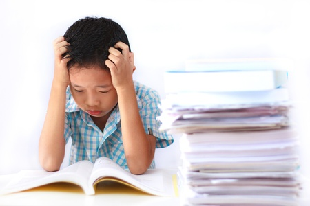 schoolwork: Many schoolwork cause a boy very serious