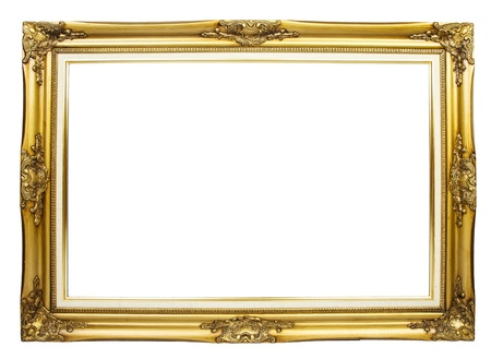 Elegance picture frame on white background photo