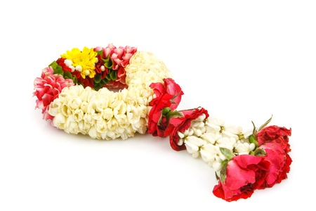 Flower wreath  for mother on mother's day on white background photo
