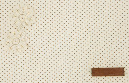 Tissu de point brun comme arrière-plan wih tag