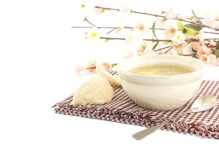 animal nest: Luxury dessert - bowl of  bird nest with gingo  and dry swallow nest