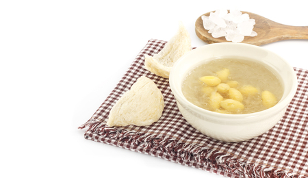 dessert Prestige - bol de nid d'oiseau avec gingo et nid d'hirondelle à sec