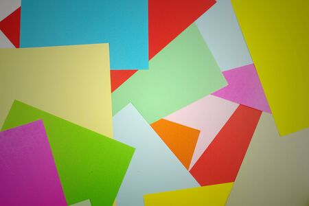 overlap: Colorful paper overlap  as geometric patterns - art background