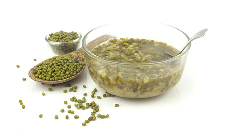 Dessert from green mung bean - sweet and delicious