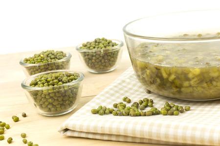 Dessert van groene mungboon - zoet en heerlijk Stockfoto