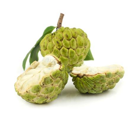 custard apples: Fresh custard apples fruit on white background