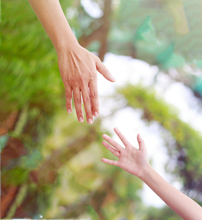 Give a helping hand. People helping each other concept