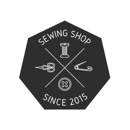 sewing label: Sewing shop or Sewing supplies label, emblem.