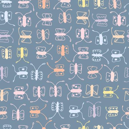 batterfly: Batterfly seamless vector pattern, background and backdrop. Illustration