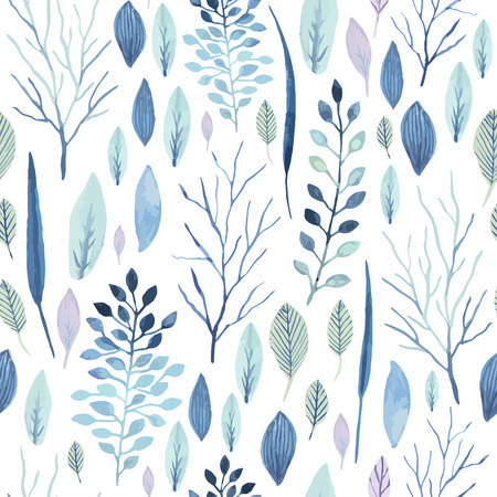 Vector cute watercolor seamless flower pattern. Big set of watercolor floral elements. Can be used for cards, invitations, save the date cards and many more.