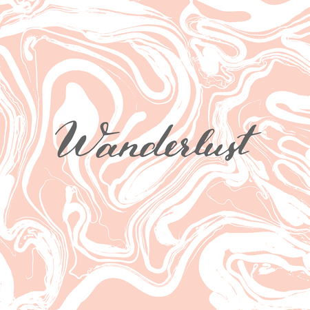 Vector trendy marbling background. Trendy lettering quote. Illustration