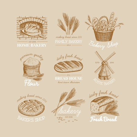 Vector hand drawn bakery icon.