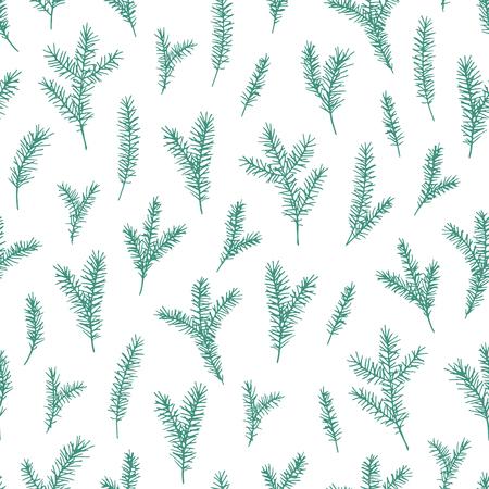 Vector hand drawn elegant minimalist spruce 版權商用圖片 - 127249045