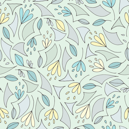 Vector seamless floral pattern. Can be used for wrapping, textile, wallpaper, postcards and many more. Illustration