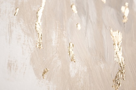 Christmas elegant background. Blurred abstract art gold foil backdrop. Luxury glamorous shiny festive soft wallpaper. Stylish, trendy and posh abstraction. Chic feminine neutral nude beige background. Stock fotó