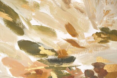 Abstract hand painted background. Stylish artistic backdrop. Fashion feminine expressive art print. Modern elegant abstraction. Luxury gold painted wallpaper. Watercolor chic trendy texture. Imagens