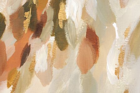 Abstract hand painted background. Stylish artistic backdrop. Fashion feminine expressive art print. Modern elegant abstraction. Luxury gold painted wallpaper. Watercolor chic trendy Christmas texture.