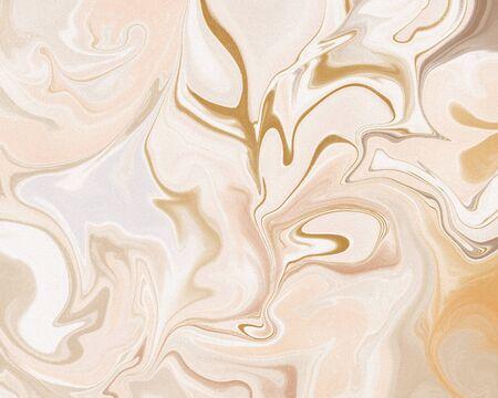 Abstract stylish trendy fluid marble art print. Standard-Bild - 141268723