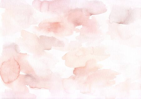 Elegant abstract hand painted watercolour background. Feminine soft delicate artistic backdrop. Cute baby pink liquid texture. For wedding invitations, save the date or advertising. Gorgeous art print