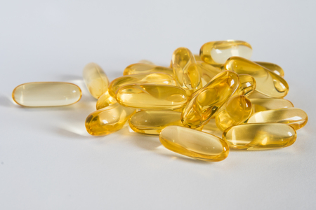 CLA, omega 3 oil capsules Banque d'images