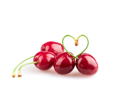 red and ripe sweet cherry