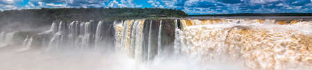 Argentina panoramic view of Iguazu falls