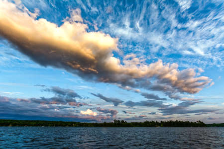 dreaminess: Dramatic sky with clouds pattern at Lake Champlain