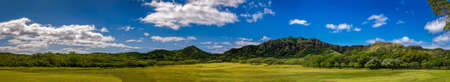Panoramic view of a forest near Diamond Head in Oahu Hawaii Stock Photo