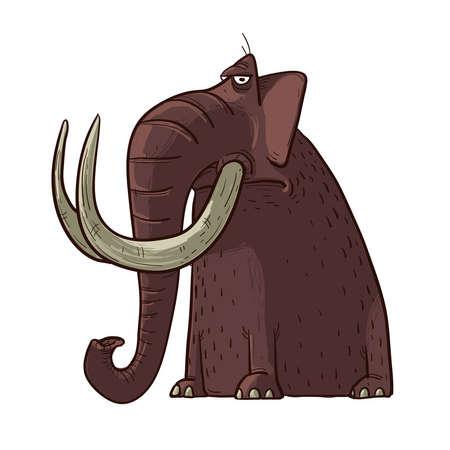 Mammoth Cartoon Vecteurs