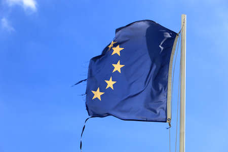 eec: ripped flag of the european coummunity