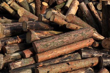 wood heating: Firewood Stock Photo