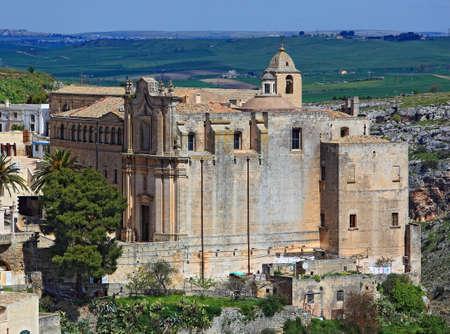 italien: Matera, Basilikata, Italien. Monasteiro di Sant Agostino Stock Photo