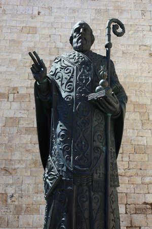 bari: Bari, Basilica San Nicola, St. Nicholas Statue, Apulia, Italy Stock Photo