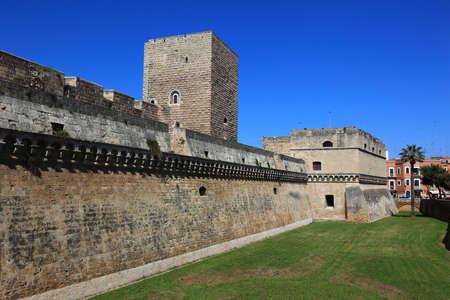 castello: Bari, castle Castello Svevo, Apulia, Italy Editorial